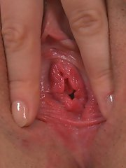 Gaby Shows her Pink Pussy and Clit